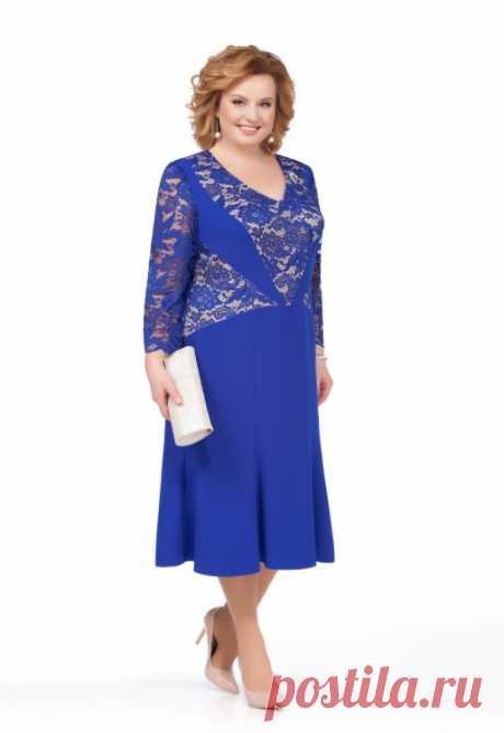 Платье, Pretty, 838 синий Купить онлайн Дама бай