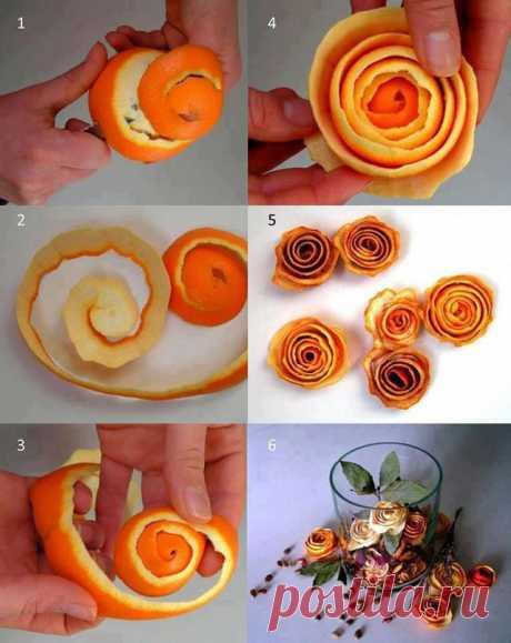 Апельсиновые розочки. Легко и просто, а главное ароматный запах не на один день!
