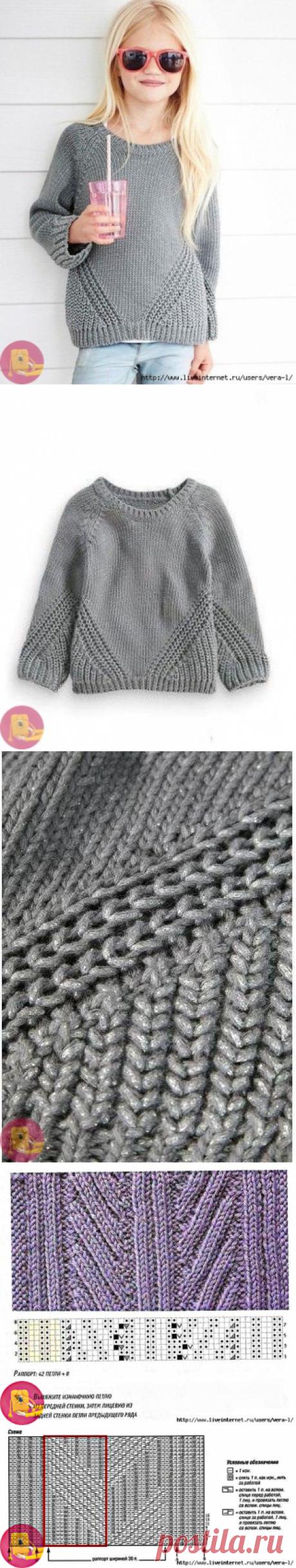 Пуловер для девочки: схема узора — Сделай сам, идеи для творчества - DIY Ideas