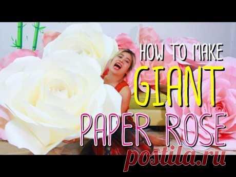 How to make GIANT PAPER ROSE by Madammouth - มาดามเม้าท์สอนทำกุหลาบกระดาษขนาดใหญ่ (มากกก)