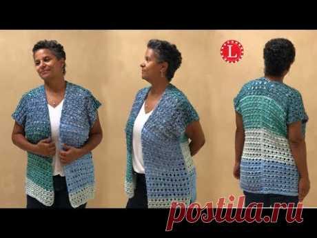 LOOM KNIT Sweater Vest Cardigan Kimono Ridged Ribbon Stitch | Loomahat