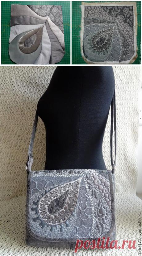 Comprar Mini el bolso - un pequeño bolso, gris, stegannaya el bolso, el bolso sobre la correa, el acolchado