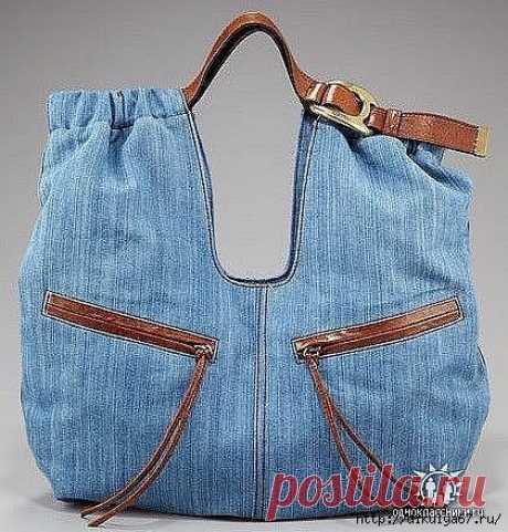 Новые идеи для переделок сумок из джинса