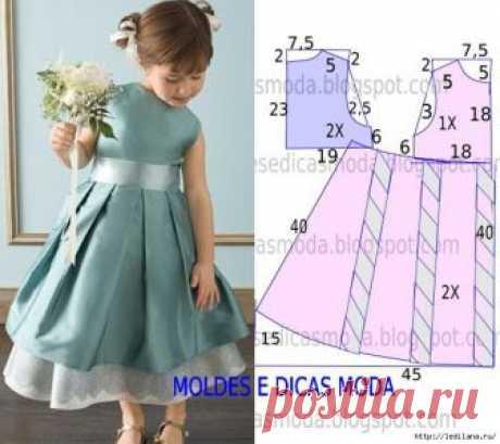 Идеи и Выкройки платьев для маленьких модниц
