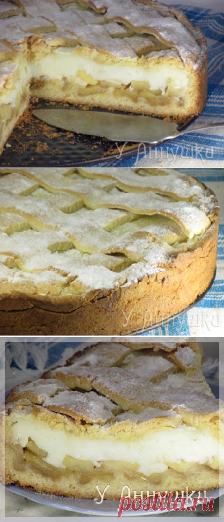 У Аннушки: Яблочный пирог с нежным кремом.