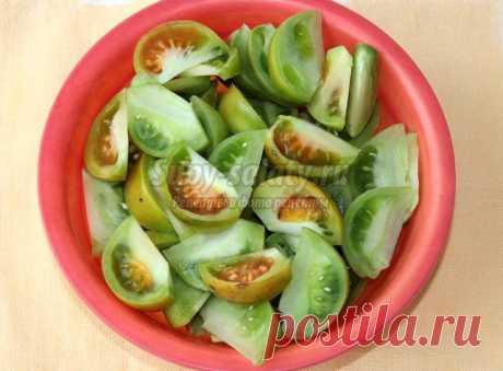 Салат из зеленых помидор и болгарского перца на зиму