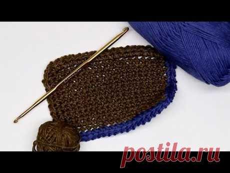 Красивая обвязка края крючком СветланаСК - YouTube