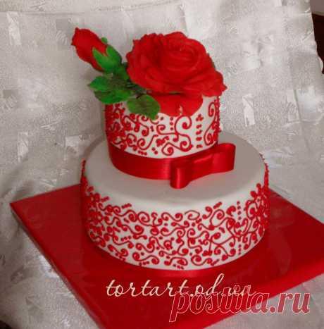 тортик *Красная роза* https://tortart.od.ua/tort-na-den-pogdenia/