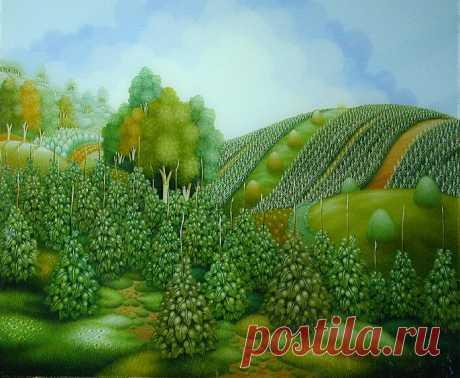 Яркая живопись художника Zvonko Sigetić, Хорватия