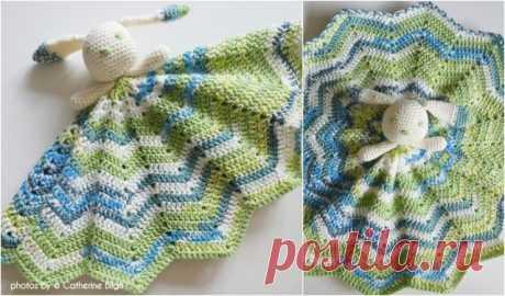 Round Ripple Bunny Lovey Free Crochet Pattern