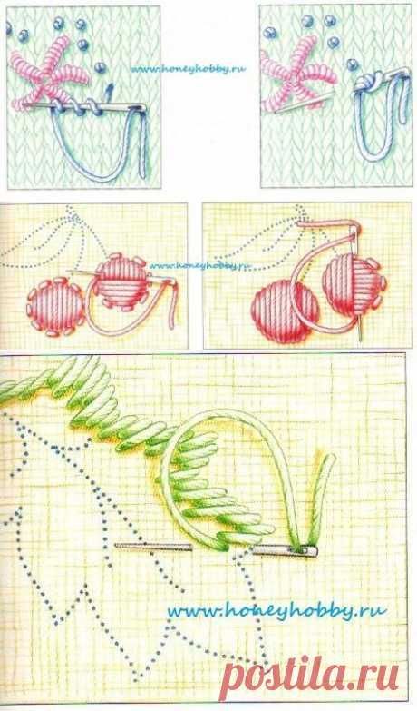 Способы вышивки по вязаному полотну - ХаниХобби