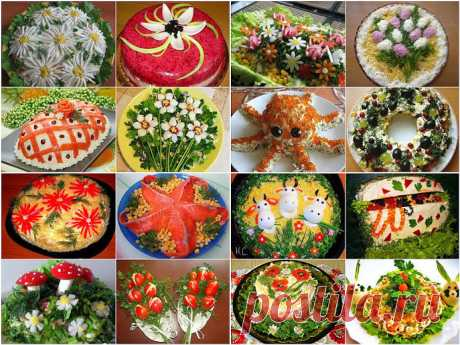 Подборка 10 самых вкусных салатов!