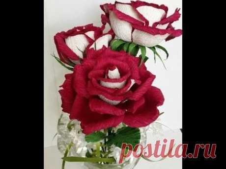 Роза Осирия из гофробумаги