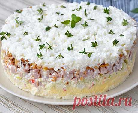 Нежный, красивый и вкусный салат «Снежная королева» | Вкусняшки | Яндекс Дзен