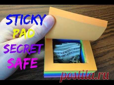 Turn a Pad of Post-it Notes Into a Secret Safe
