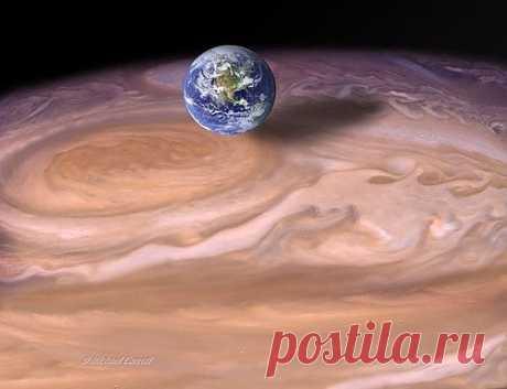 Земля и Юпитер