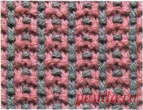 Узоры для вязания. Многоцветное вязание.