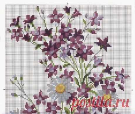 Полевые цветы схемы крестиком ~ Свое рукоделие