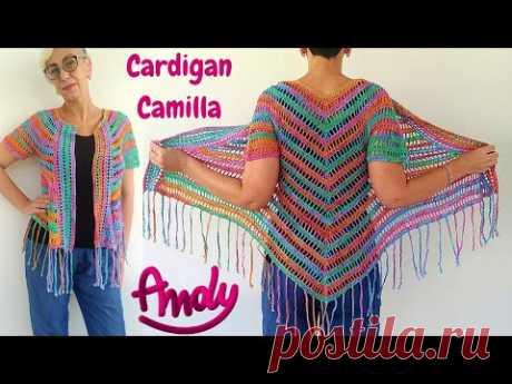 Cardigan Camilla Uncinetto Facile Estate