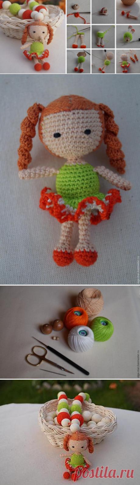 Мастер-класс: вязаная куколка для слингобус - Ярмарка Мастеров - ручная работа, handmade