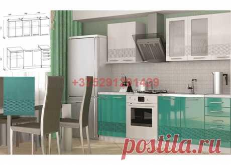 Кухня Олива 3D белый / бирюза 1,8 м: купить в Минске недорого, низкие цены, скидки, рассрочка