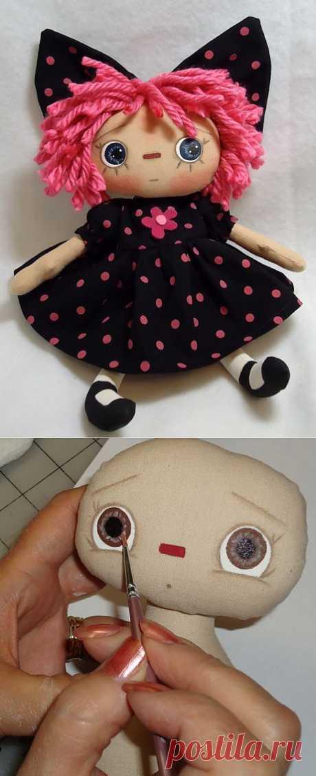 Как рисовать куклам глазки