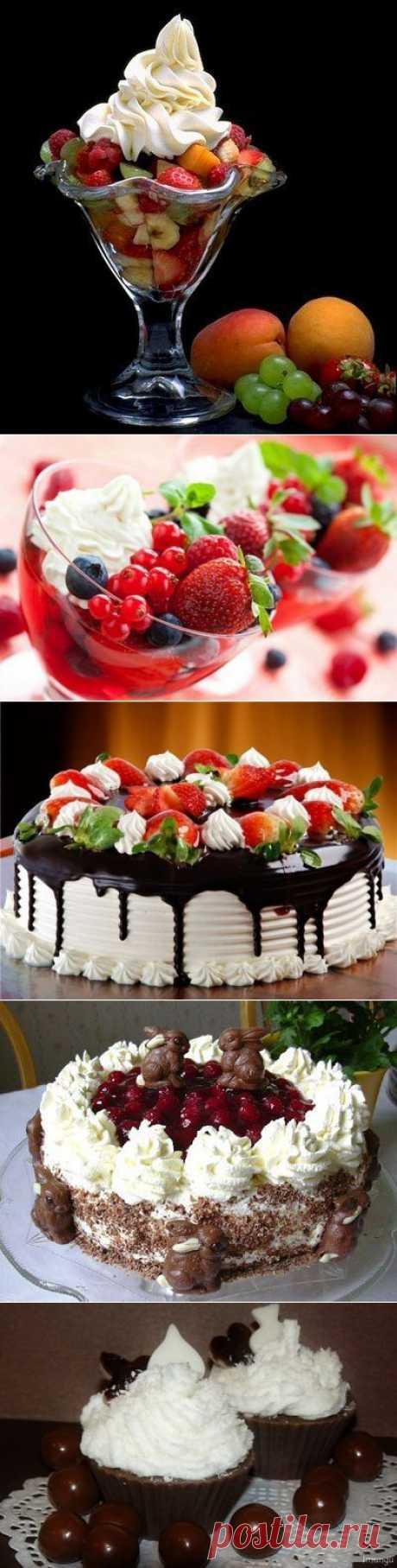 Крема для пирожных и тортов .
