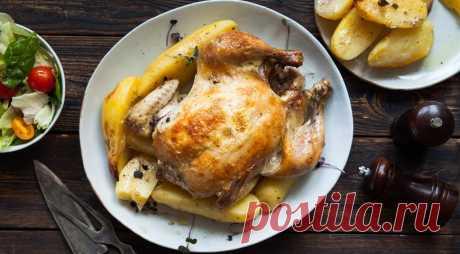 Курица с картофелем, запеченная в рукаве — Фактор Вкуса
