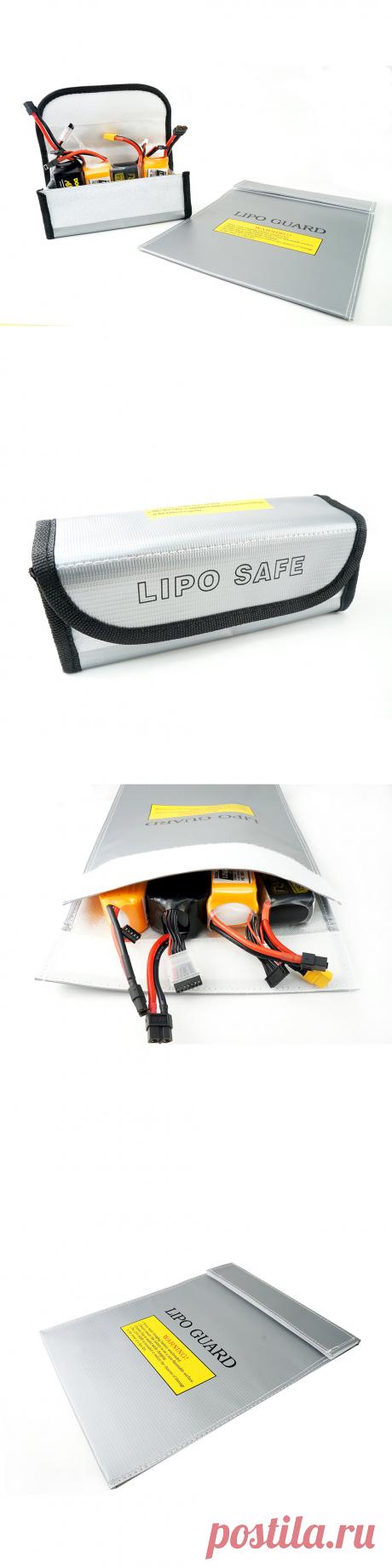 happymodel explosion-proof fireproof safe storage bag 85*75*65/230*300mm for rc lipo battery Sale - Banggood.com