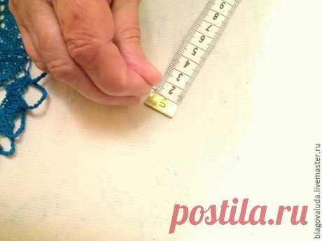 Как придать идеальную форму вязаной салфетке - Ярмарка Мастеров - ручная работа, handmade