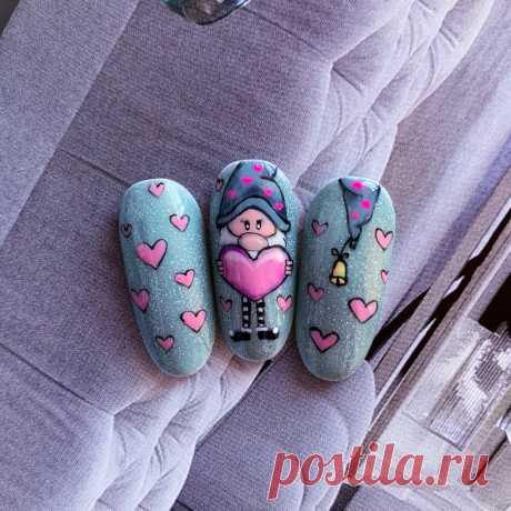 Рисую на ногтях без ускорения в монтаже❤️ | Анна Осипова | Яндекс Дзен