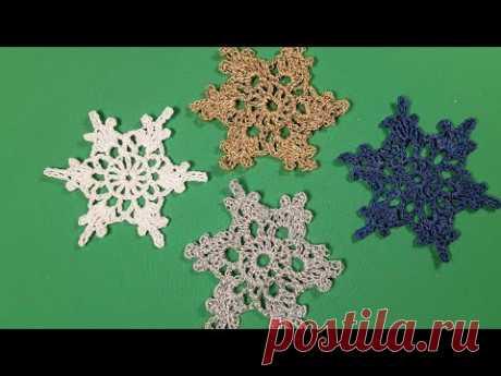 Снежинки. Подготовка к Новому Году. Урок вязание. Crochet.