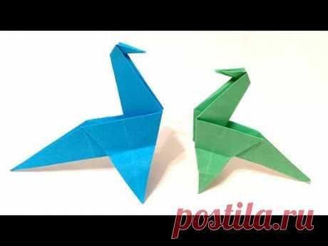 Как сделать динозавра из бумаги. Оригами Динозавр