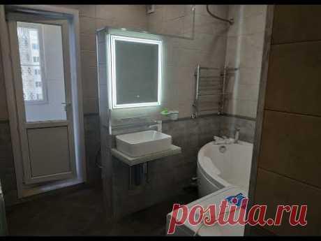 Ремонт ванной совмещенной с туалетом 9ти этажка 135 б серия получилось 10 м2 Идеи дизайна