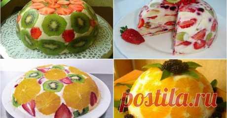 Фруктовые тортики без выпечки. Чудесное наслаждение вкусом       Фруктовый торт без выпечки — это наслаждение вкусом!!!   К тому же выглядит он просто великолепно. От одного вида слюнки текут.   И пр...