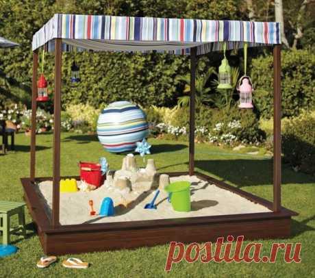 Детские площадки на даче - интересные проекты и современные идеи оформления (175 фото)