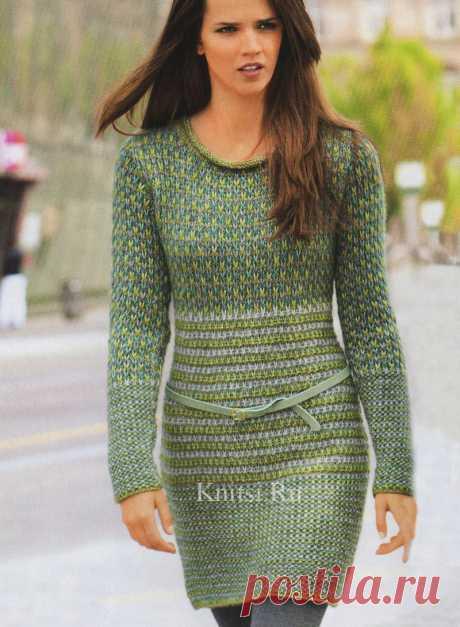 Длинный пуловер-туника с узорами из снятых петель-ленивый жаккард