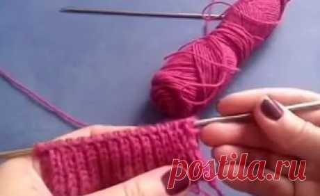 Итальянская резинка спицами... Резинка является одним изосновных элементов для различных изделий: кофт, шапок, юбок, варежек,...