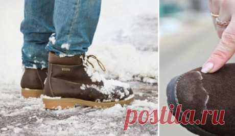 Как спасти свою обувь от соляных разводов . Милая Я