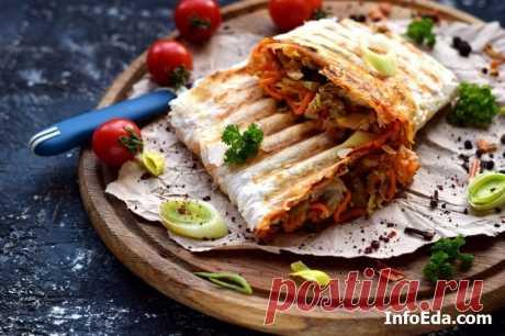 Домашняя шаурма с курицей в лаваше: пошаговый рецепт | InfoEda.com