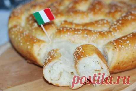 Хлеб с пармезаном и итальянскими травами - кулинарный рецепт