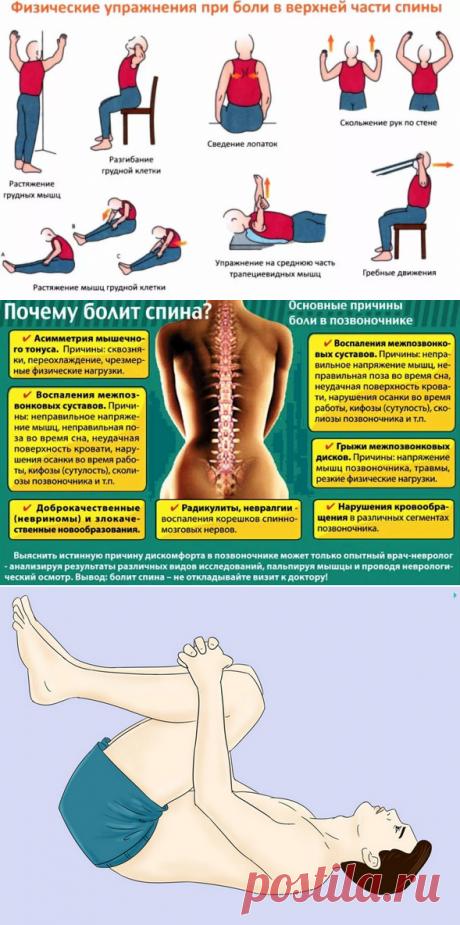 Что делать если болит спина? Упражнения в домашних условиях
