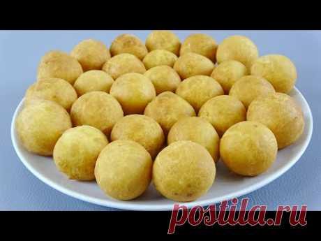 ТВОРОЖНЫЕ пончики-шарики с хрустящей корочкой! Мягкие как ПУХ! - YouTube
