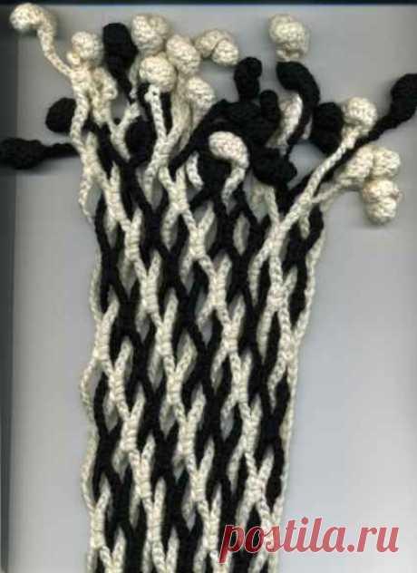 Мастер-класс по вязанию двойной сетки