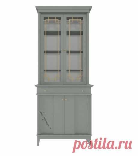 Буфет из массива дерева с ящиками и распашными дверцами Лайквуд Л 23. Доставка и сборка по Москве и области.