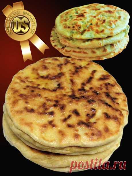 РЕЦЕПТ ЛЕПЕШЕК С СЫРОМ. Очень рекомендую приготовить этот рецепт, лепешки на основе сыра и жирного кефира просто тают, а начинки могут быть разными.