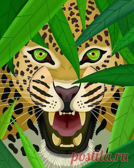 Leopard by Nicole Wilson Leopard Digital Art by Nicole Wilson