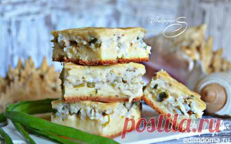 Рыбный заливной пирог | Кулинарные рецепты от «Едим дома!»