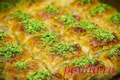Турецкая пахлава по традиционному национальному рецепту. Готовим восточные сладости правильно..