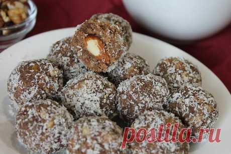 Быстрые домашние конфеты с какао и орехами   Домашние рецепты   Яндекс Дзен